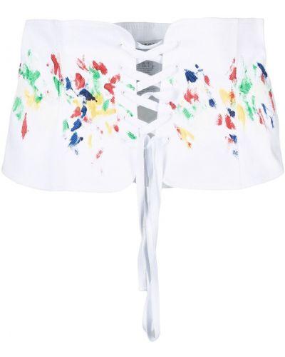 Biały biustonosz koronkowy bawełniany Philosophy Di Lorenzo Serafini