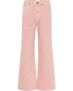 Хлопковые розовые широкие джинсы с американской проймой Slvrlake