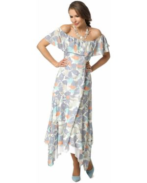 Свободное летнее платье с оборками без рукавов свободного кроя Dizzyway