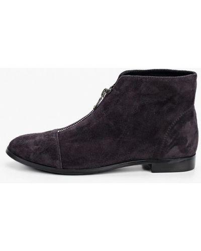 Велюровые серые ботинки El'rosso