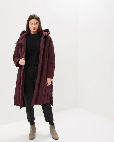 Зимняя куртка осенняя бордовый Hassfashion