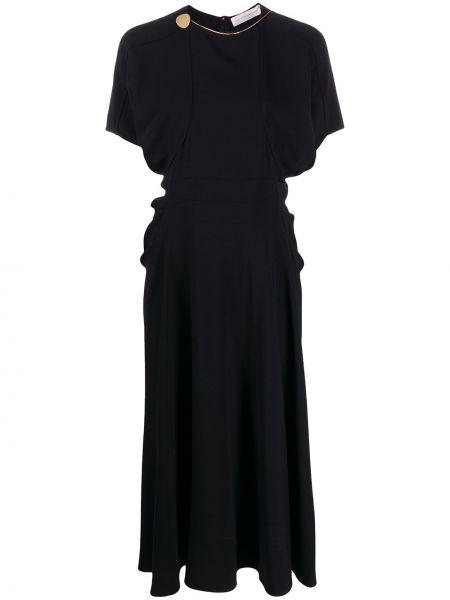 Платье миди деловое из штапеля Victoria Beckham