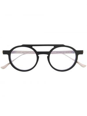Черные очки авиаторы круглые металлические Thierry Lasry
