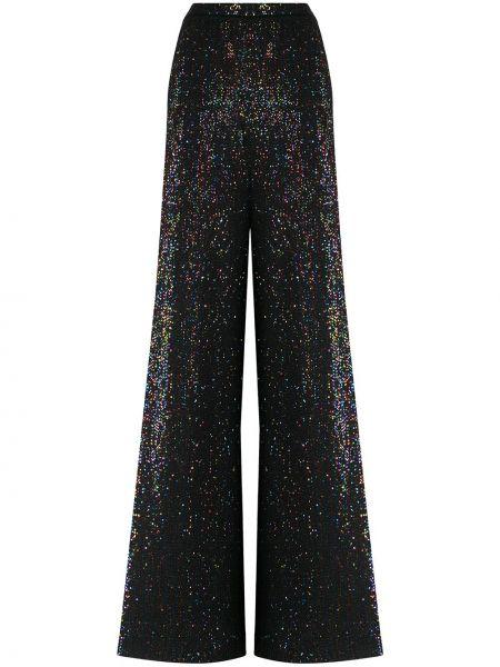 Шерстяные черные брюки с поясом Missoni