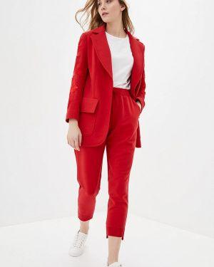 Красный облегающий брючный костюм O&j