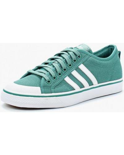 Зеленые кеды Adidas Originals