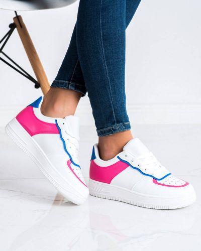 Białe sneakersy skorzane Shelovet