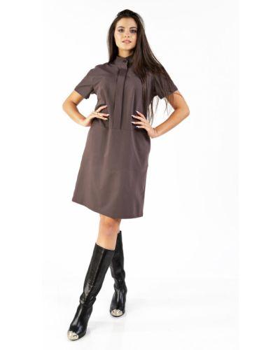 Повседневное прямое с рукавами платье-рубашка Mari-line