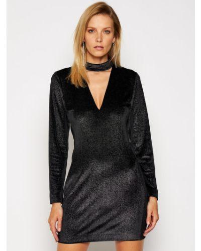 Czarna sukienka koktajlowa Just Cavalli