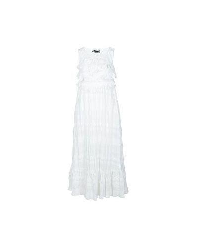 Белое платье хлопковое Moschino Love