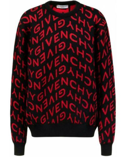 Sweter oversize - czarny Givenchy