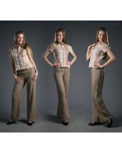 Летние брюки расклешенные с вышивкой Грандсток