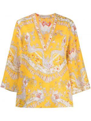 Tunika z printem - biała Emilio Pucci
