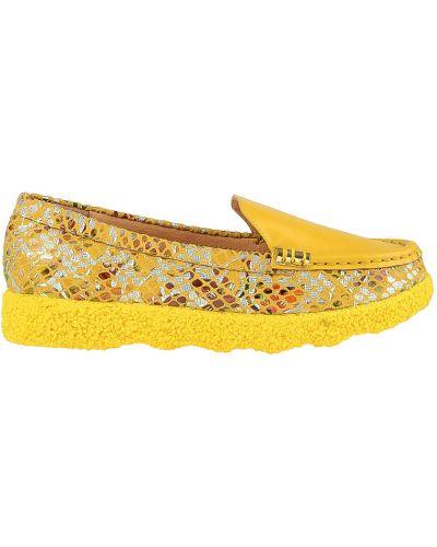 Мокасины кожаные желтый Francesco Valeri