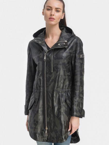 Кожаная черная кожаная куртка Millennials