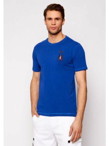 Niebieska t-shirt Aeronautica Militare
