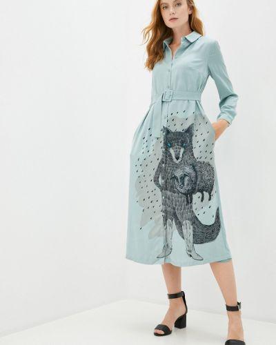 Прямое бирюзовое платье Akhmadullina Dreams