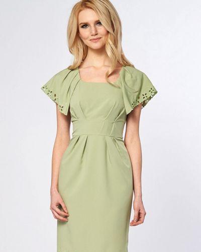 Коктейльное платье осеннее зеленый Ано