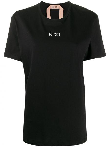 Топ с принтом черный N21