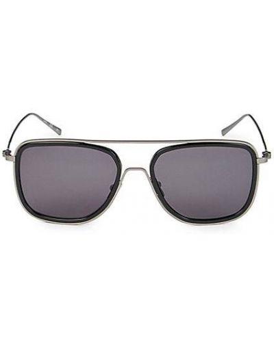 Черные солнцезащитные очки металлические Calvin Klein