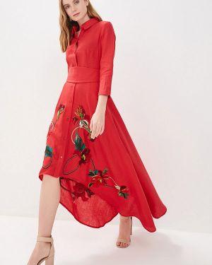 Летнее платье красный Yukostyle