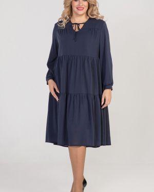 Платье на пуговицах со складками Luxury