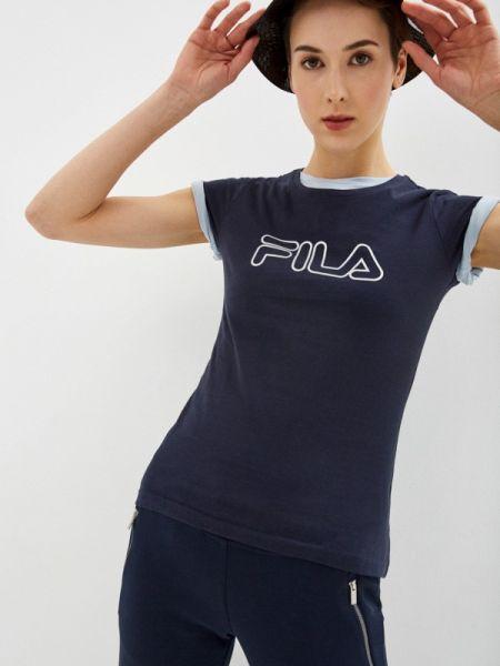 Поло футбольный синий Fila