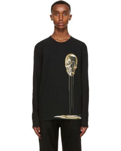 Черная футболка с длинными рукавами с черепами Alexander Mcqueen