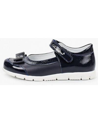 Лаковые синие кожаные туфли Bottilini