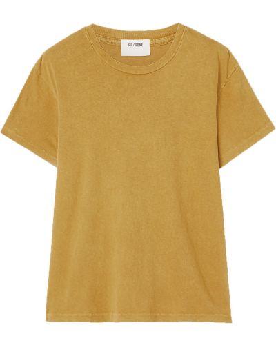 Ватная хлопковая желтая футболка Re/done