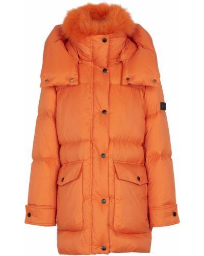 Оранжевое пальто утепленное Yves Salomon