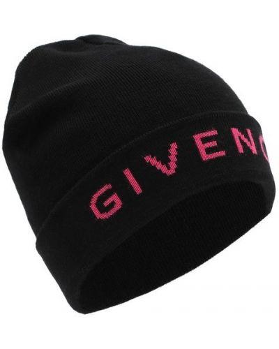 Шапка бини черная розовый Givenchy