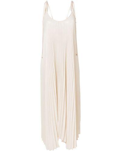 Бежевое платье плиссированное Twin-set