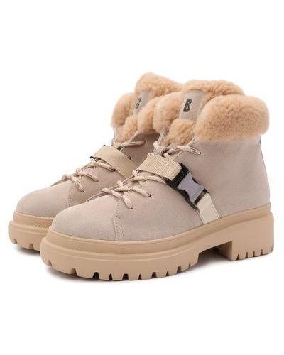 Бежевые ботинки немецкие Bogner