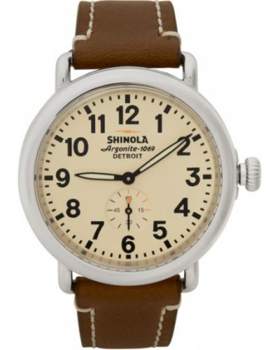 Czarny zegarek na skórzanym pasku skórzany szafir Shinola