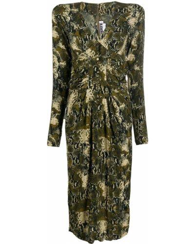 Платье макси длинное - зеленое Rotate