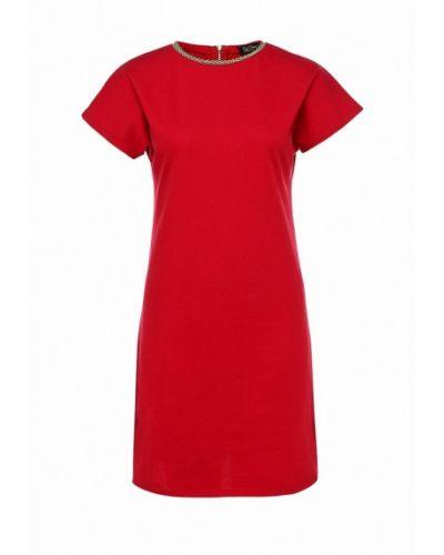 Платье красный осеннее Luann