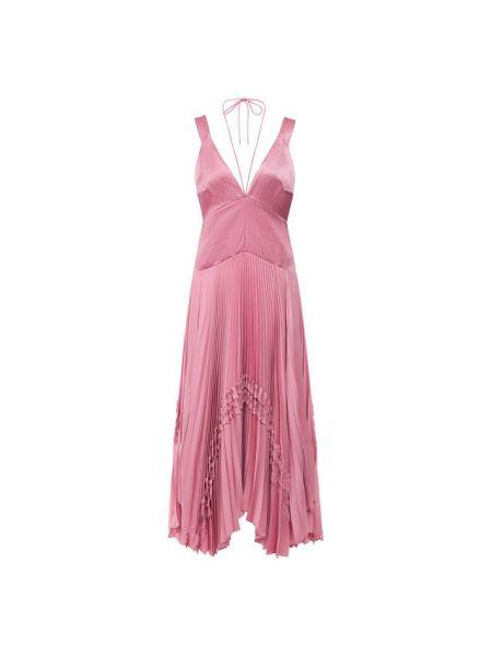 Хлопковое розовое платье с подкладкой Alexis
