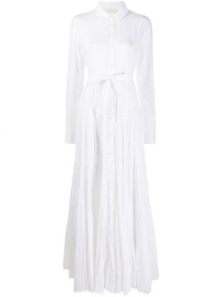 Платье макси на пуговицах с поясом Mes Demoiselles