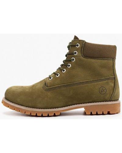 Ботинки из нубука - зеленые Affex
