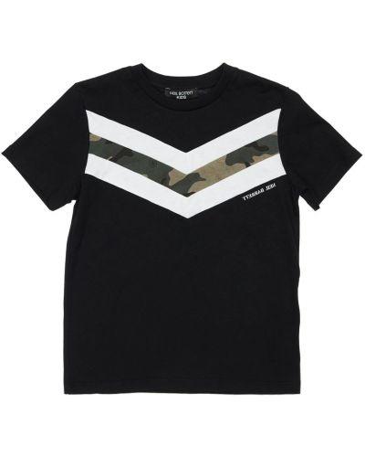 Bawełna bawełna czarny koszula Neil Barrett