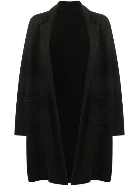 Коричневое свободное шерстяное пальто классическое оверсайз Daniela Gregis