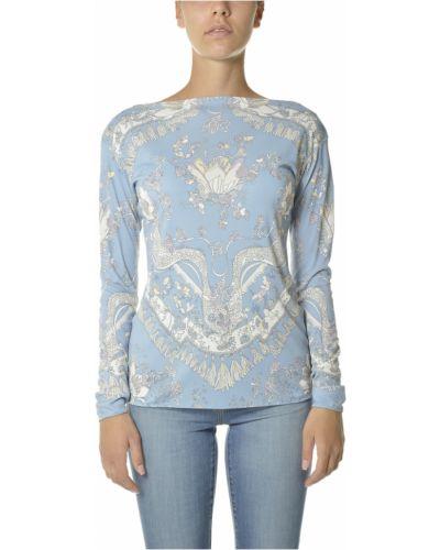 Niebieska koszulka Emilio Pucci