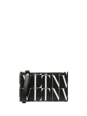 Черный кожаный кошелек прямоугольный Valentino Garavani