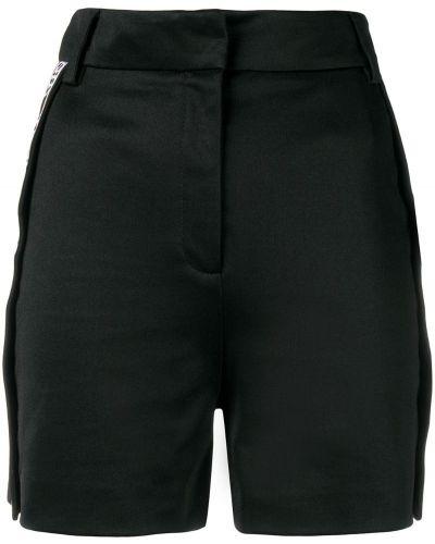 Однобортные черные шорты Versus
