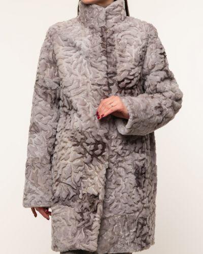 Пальто из овчины - серое Dzhanbekoff