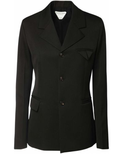 Черный пиджак с карманами с манжетами Bottega Veneta