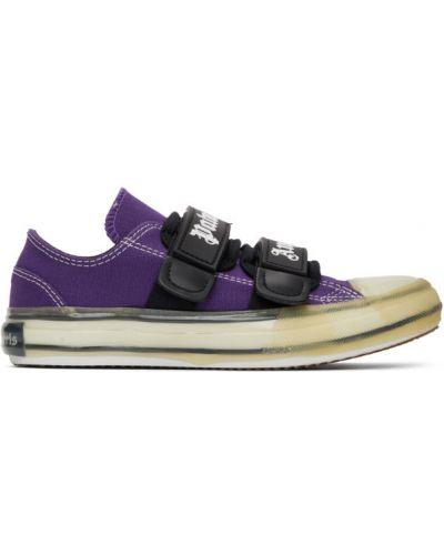 Brezentowy czarny sneakersy z łatami rzep Palm Angels