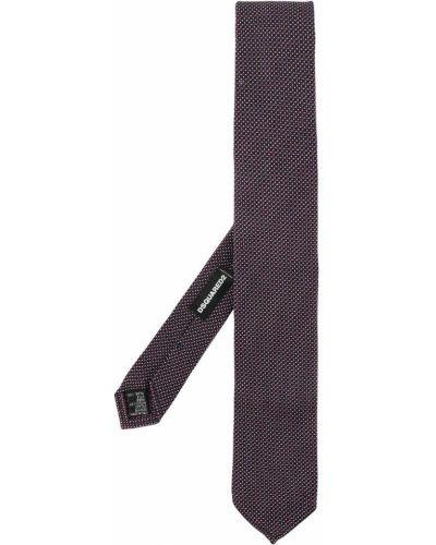 Галстук узкий шелковый фиолетовый Dsquared2