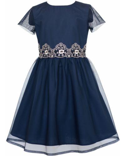Платье с рукавами однотонное короткое Sly